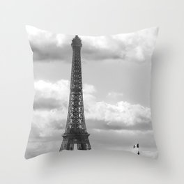 Eiffel Tower from rooftop of Galeries Lafayette Throw Pillow