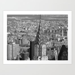 Chrysler Building Black + White Art Print