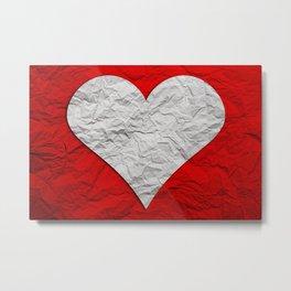 Heart Texture Metal Print