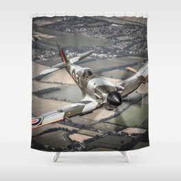 Vickers Armstrong Spitfire FR XIV Shower Curtain