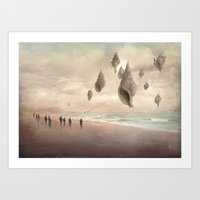 giants Art Prints featuring Floating Giants by Christian Schloe