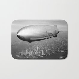 Airship over New York Bath Mat
