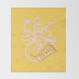 Hydrating lotion Throw Blanket