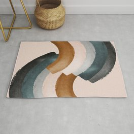 Brushstroke rainbows Rug