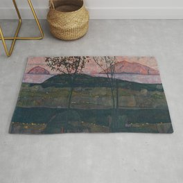 Egon Schiele - Setting Sun Rug
