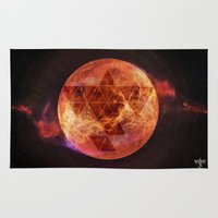 charli xcx Area & Throw Rugs featuring Gravity Levels: Red Planet by Sitchko Igor