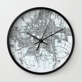 Bishkek, Kyrgyzstan, White, City, Map Wall Clock