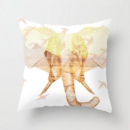 X-ray Art Elephant Throw Pillow