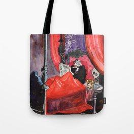 Cruella in Bed Tote Bag