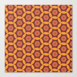 Autumn geometric1 Canvas Print