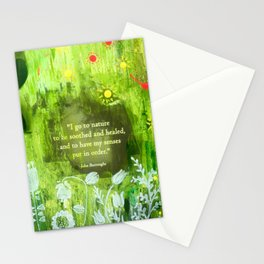 I go to nature Stationery Cards