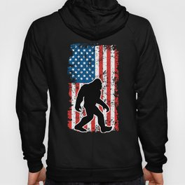 Bigfoot and American Flag Hoody
