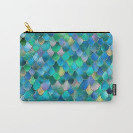 Summer Ocean Metal Mermaid Scales Carry-All Pouch