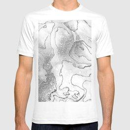 Abstract, Black and White, Abalone, Shell, Nature, Beach, Macro, Monochrome, Minimal, Grey, Gray, T-shirt