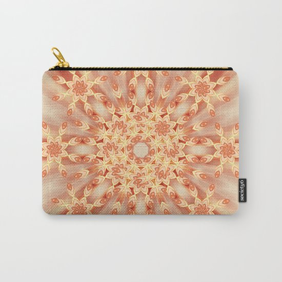 Mandala radial in orange  Carry-All Pouch
