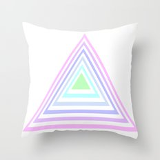 pastel rainbow triangles Throw Pillow