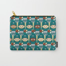 Baseball Teal and Grey - Super cute sports stars Carry-All Pouch