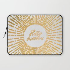 Hello Sunshine Gold Laptop Sleeve