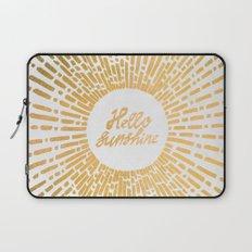 Hello Sunshine Gold Laptop Sleeve
