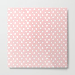 Darling Dots Blush Pink Metal Print