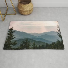 Smoky Mountain Pastel Sunset Rug