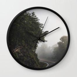 Roadway in Georgia #fog #nature #scene Wall Clock