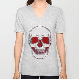 3D Skully Unisex V-Neck