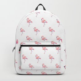 Pink Flamingo Watercolor Tropical Animals Bird Backpack