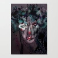 fairy Canvas Prints featuring fairy by Irmak Akcadogan