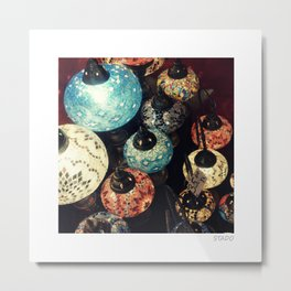 Turkish Lamps at Grand Bazaar in Istanbul, Turkey Metal Print