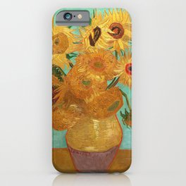 Vincent Van Gogh Twelve Sunflowers In A Vase iPhone Case