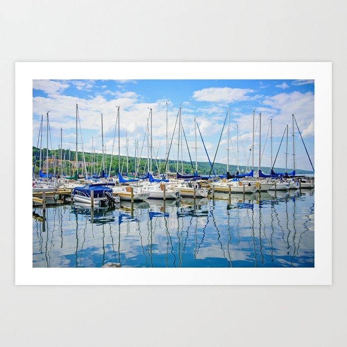 Glen Harbour Marina Art Print