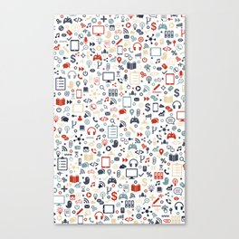 Icon pattern Canvas Print