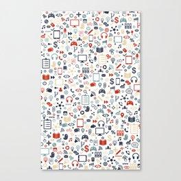 Icon pattern Canvas Print