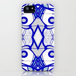 Blue morning - abstract decorative pattern iPhone Case