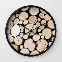 Woodpile Wall Clock