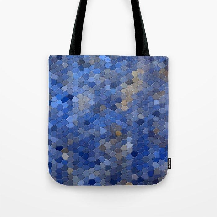 Blue mosaic tile abstract Tote Bag