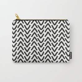 chevron black on white Carry-All Pouch