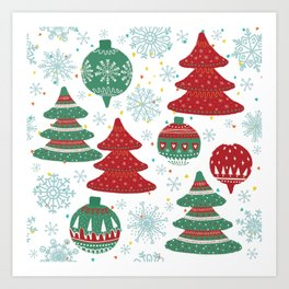 Christmas Pattern 04 Art Print