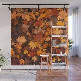 Autumn Fall Leaves Wall Mural