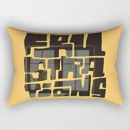Frustrations Rectangular Pillow