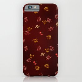 Burgundy Leaves and Berries iPhone Case