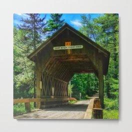 Rhode Island Foster Covered Bridge Metal Print