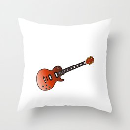 """When """"No Music No Life"""" Shirt """"BluesWith A Nice Illustration Of A Guitar T-shirt Design White Throw Pillow"""