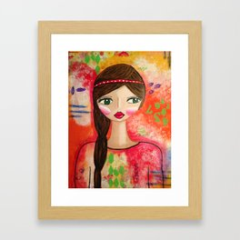 Reflections of Natalie Framed Art Print