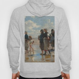 Setting Out to Fish Oil Painting by John Singer Sargent Hoody