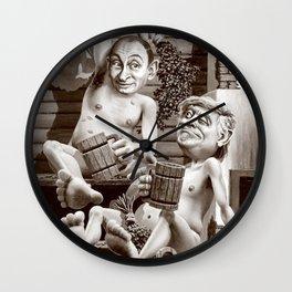 Putin and Trump in the Russian bath Wall Clock
