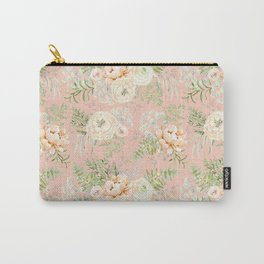 Blush pink peony bouquets pattern Carry-All Pouch