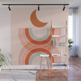 Cradle the moon - twilight Wall Mural