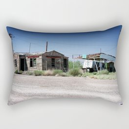 Somewhere on the Old Pecos Highway #7 Rectangular Pillow